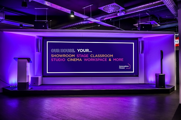 Midwich Group's stage at Innovation House, Bracknell