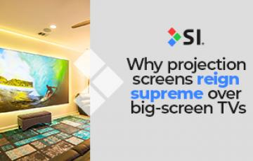 Screen Innovations - Why projector screens reign supreme over TVs